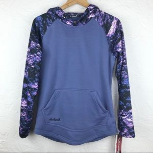 NWT Huntworth Purple Contrast Performance Hoodie